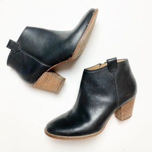Madewell Black Leather Billie Ankle Booties Sz 6.5